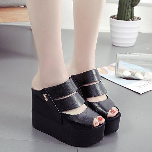 HBDLH Damenschuhe Mode Coole Schuhe Mode Dicke Sohle Muffin Steigung Steigung Steigung Bei Fisch Im Mund Sandalen. 2f4d0d