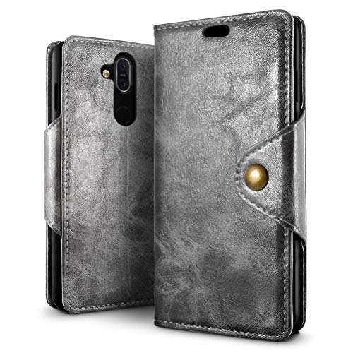 Nokia 8.1 / X7 Case, SLEO Magnetic Copper Buckle...