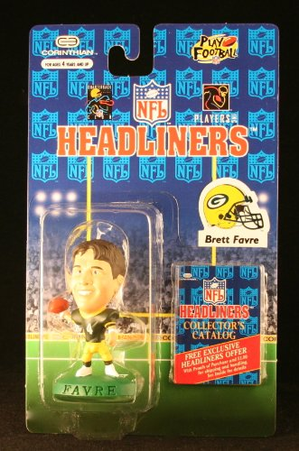 Nfl Football Diecast Collectible - BRETT FAVRE / GREEN BAY PACKERS * 3 INCH * 1996 NFL Headliners Football Collector Figure