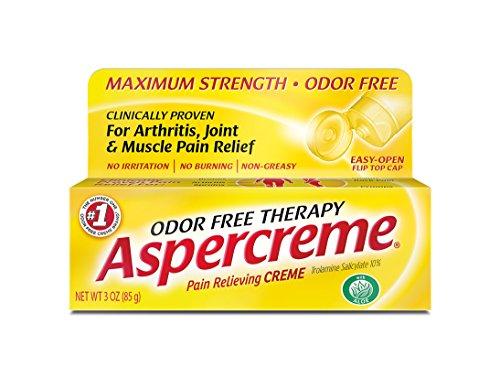 - Aspercreme Odor Free Topical Analgesic Cream, 3 Ounce Tube (Pack of 4)