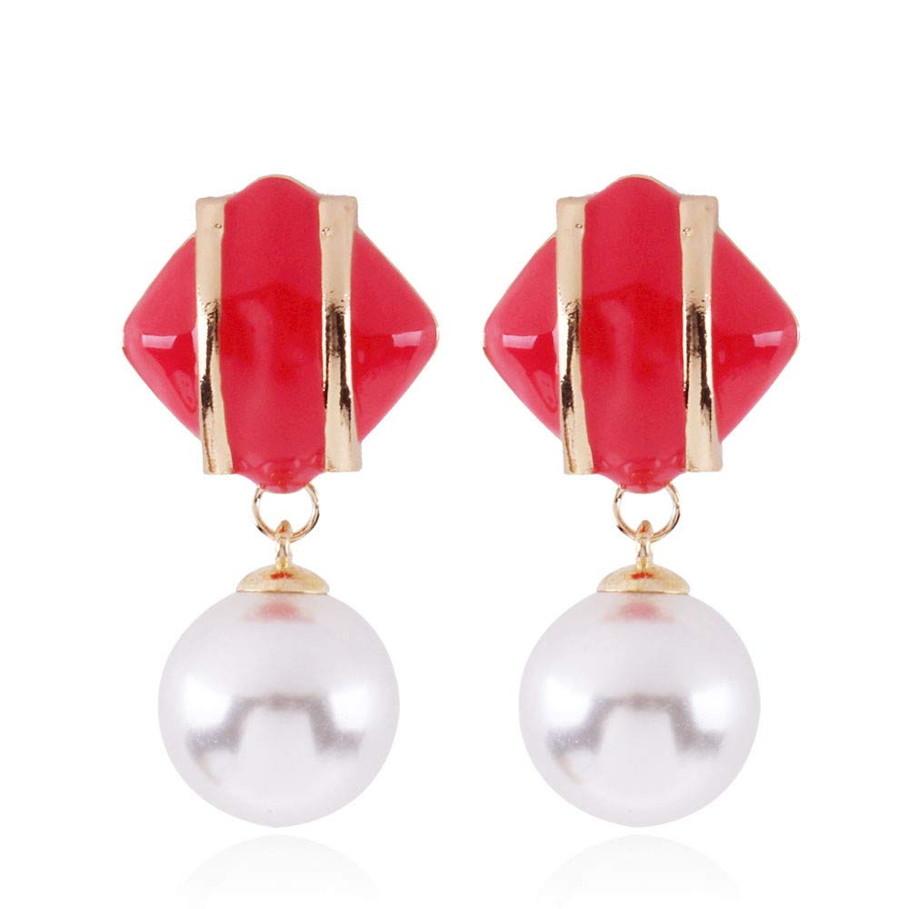 Fashion Designs Long Pearl Dangle Earrings, Vintage Big Pearl Earrings-Great for Brides or Bridesmaids Wedding Style (G)