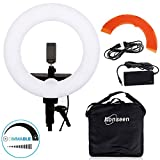 14-inch Dimmable LED Ring Light 40W 5500K O Selfie Lighting Kit with Color Filter,Hot Shoe Adapter,Phone Clamp,for Makeup,Camera Smartphone Youtube Video Shooting