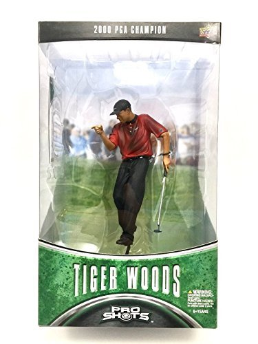 (Tiger Woods - six inch Collectable Action Figure - PGA Champion (Red Shirt) by Pro Shots)