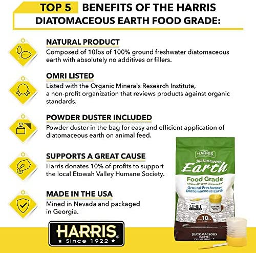 Amazon Com Harris Diatomaceous Earth Food Grade 10lb With Powder Duster Included In The Bag Garden Outdoor