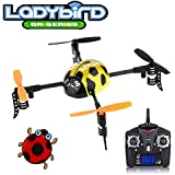 QR series Ladybird - WLToys V939 4CH 2.4GHz Micro Quad 4-Axis Mini UFO Style RC Helicopter Yellow - Multirotor Quadcopter - RTF Ready to Fly with Transmitter Tx Included, color may vary.