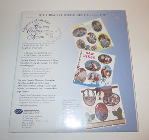 (Creative Memories Cutting System 4 OVAL CUTTING Patterns & Sizing Template NIP ##coo-stuff-ool)