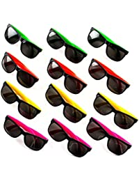 24 Neon Sunglasses For Kids and Adults - Bulk Party...