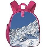 Backpack Printed Laptop SAAS Fee Snow Mountains School Bookbags College Bags Daypack Travel