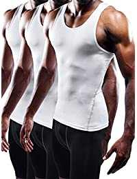 0c8a08c13741c Men s 3 Pack Athletic Compression Under Base Layer Sport Tank Top