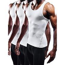 Neleus Men's 3 Pack Athletic Compression Under Base Layer Sport Tank Top