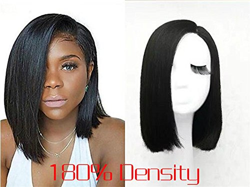 Hot Sale Charming Polished Short Straight Bob Hairstyle 360 Lace Frontal Wig 100% Remy Human Hair Makes You More Attractive(about 10Inches - Hot Styles Atlanta