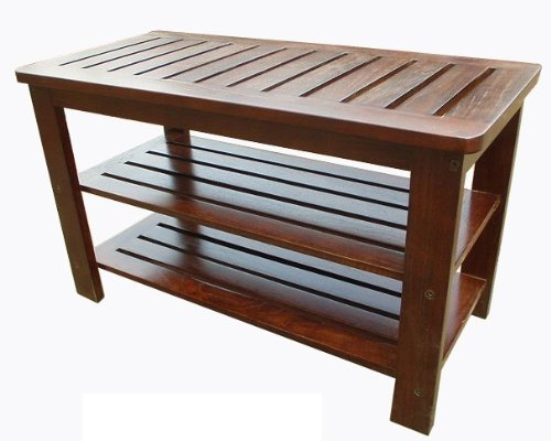 D-ART COLLECTION Mahogany Michaela Shoe Bench