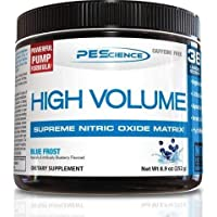 PEScience High Volume Nitric Oxide Booster Pre Workout Powder with L Arginine Nitrate, Blue Frost (Blueberry), 36 Scoops…