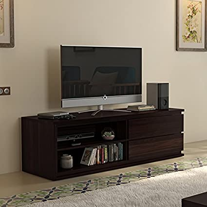 Urban Ladder Vector Solid Wood 55 TV Unit (Mahogany Finish)