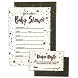 Baby Shower Invitation Cards with Diaper Raffle Tickets...