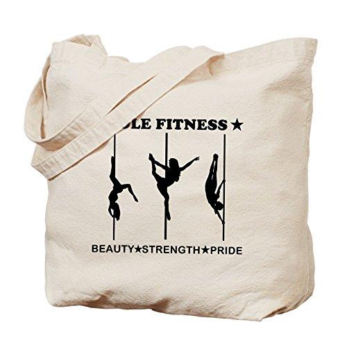 CafePress–Pole Fitness Belleza fuerza orgullo negro–gamuza de bolsa de lona bolsa, bolsa de la compra