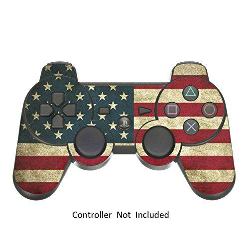 Skin Stickers for Playstation 3 Controller - Vinyl Leather Texture Sticker for DualShock 3 - Protectors Decal Wireless Game Controllers - Battle Torn Stripes [ Controller Not Included ]