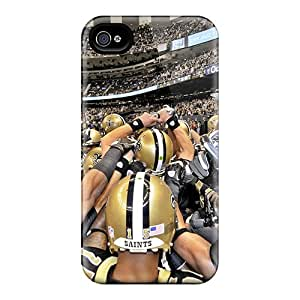 New Snap-on ChrismaWhilten Skin Cases Covers Compatible With Iphone 4/4s- New Orleans Saints