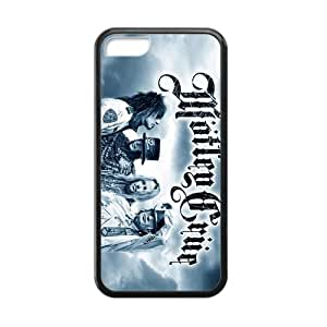 CTSLR Laser Technology Motley Crue TPU Case Cover Skin for Cheap phone iphone 5/5s iphone 5/5s-1 Pack- Black - 7