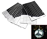 Arts & Crafts : Self-Adhesive REAL Glass Craft Mini Square & Round Mirrors Mosaic Tiles NEW