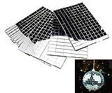 Self-Adhesive REAL Glass Craft Mini Square & Round Mirrors Mosaic Tiles NEW