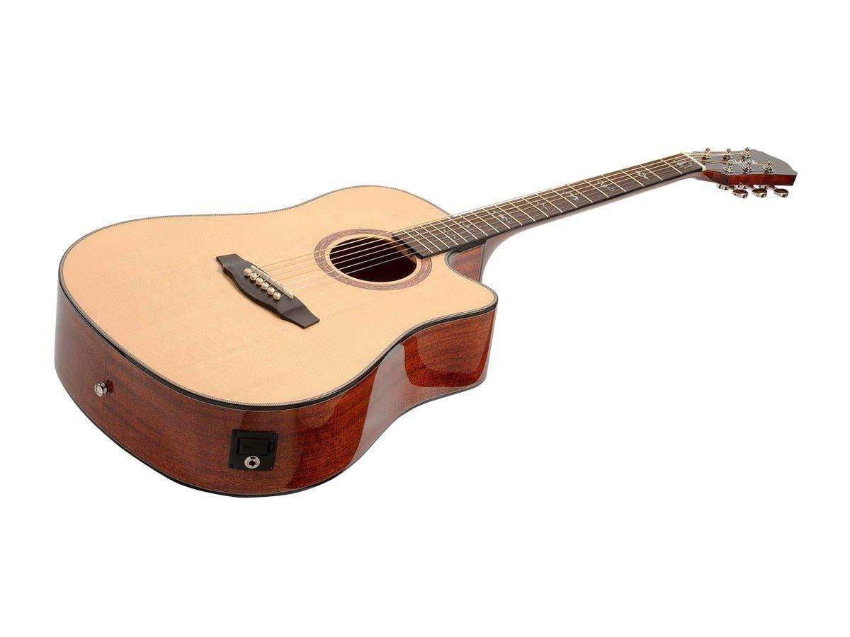 Monoprice Guitarra acústica sintonizador de Pastilla Fishman y ...