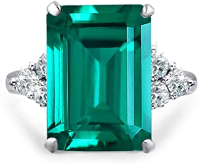 Amazon Com Samie Collection Princess Diana 20ctw Emerald Cut