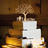 Rustic Wedding Cake Topper - Couple on bench - WA1040