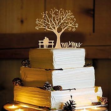 Amazon rustic wedding cake topper couple on bench wa1040 rustic wedding cake topper couple on bench wa1040 junglespirit Choice Image