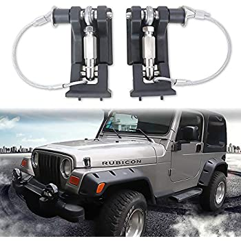 Hood Catch Kit Pair for Jeep TJ Wrangler 1997-06 Rugged Ridge With Hardware