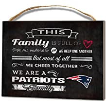 """KH Sports Fan 1000100625 4""""x5.5"""" New England Patriots Family Cheer Small NFL Plaque"""