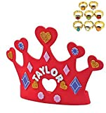 magic color scratch hearts - Preschool Crafts Valentine Kids Craft Kits - Foam Heart Crown with a Bonus Royal Ring (12 Crown Kits and 12 Royal Rings)