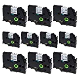 SuperInk 10 Pack Compatible Brother TZ TZe TZe-231 TZ-231 Black on White Laminated Label Tape for PT-D210 PT-H100 PTD400AD PT-P700 PTD600 PT-1230PC P-touch Label Maker, 12mm (1/2 Inch) x 8m (26.2 ft)