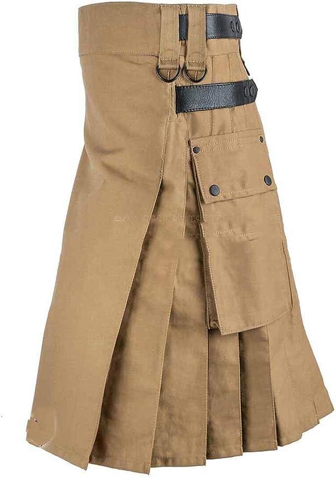 kewing Vestido escocés Retro Medieval para Hombre Falda ...
