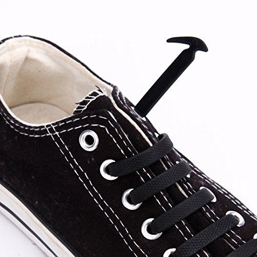 En 12 De Chaussure Silicone Lacets Noir Enfant Adulte qrXrZ8w