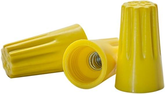 /UL Listed aufschraubbare P4/Typ einfach Schraube auf Gap US LED Superstore Gelb Kabel Anschl/üsse Pack Bag of 100/
