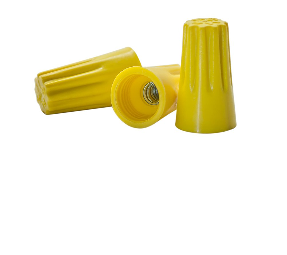 Yellow Wire Connectors Pack, Bag of 100 - UL Listed Twist-On P4 Type ...