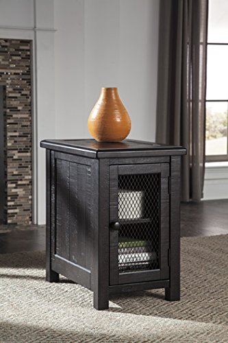 Ashley Sharlowe Chair Side End Table in Charcoal -  Ashley Furniture, T835-7