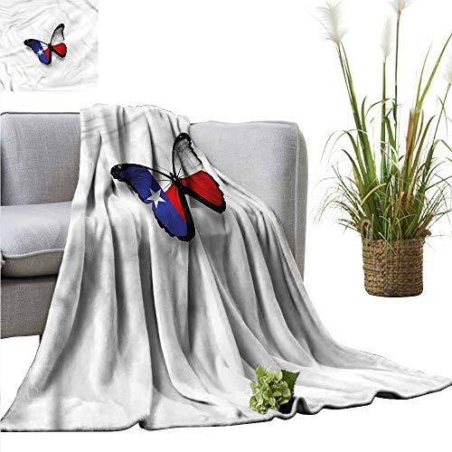 - Throw Blanket Unique Design Texas Stain Resistant Butterfly Wing Flag Freedom 91