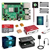 LABISTS Raspberry Pi 4 Starter Kit with 4GB RAM Board, 32GB Micro SD Card Noobs, 3A Power Supply with On/Off Switch, Cooling Fan and 3 Heatsinks, Premium Black Case and Other Necessary Accessories