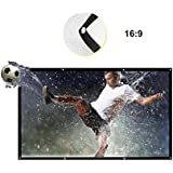 Ya-tube 120 inch Projection Screen Foldable Anti-crease Portable Projector Movies Screen 16:9 HD emi-transparent Rear Front Projection Home Theater Outdoor 3D Movies