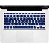 """Kuzy - NAVY BLUE Keyboard Cover Silicone Skin for MacBook Pro 13"""" 15"""" 17"""" (with or w/out Retina Display) iMac and MacBook Air 13"""" - Navy Blue"""