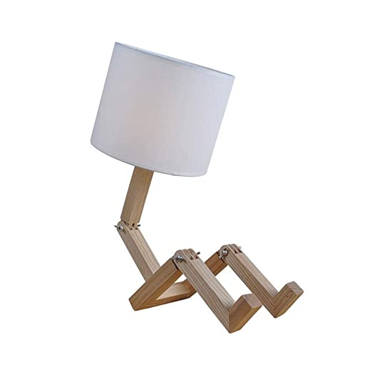 LZRDZSWYXGS Lámpara de Mesa de Madera Maciza Multifuncional ...