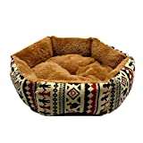 Warm Dog Bed Winter Dogs Cat House Kintten Puppy Bed Kennel Mat Sleepping Bed Cushion Small Dogs Brown S