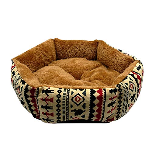 Warm Dog Bed Winter Dogs Cat House Kintten Puppy Bed Kennel Mat Sleepping Bed Cushion Small Dogs Brown M