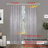 LQIAO 2017 New Sequin Silver Curtains 50x63in Sparkly Fabric Photography Backdrop for Bedroom, Kitchen, Kids Room or Living Room,1 Panel Drapes 50-Inch-by-63-Inch Hooks Style Possible ¡­