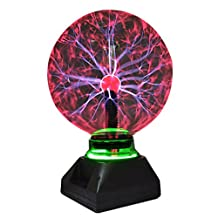 Nebula Magic Plasma Balls Touch Sensitive Sphere Flashing Lightning Lamp Light Electronix Express with Music for Kids Bedroom Paryt Decorations (8 inch)