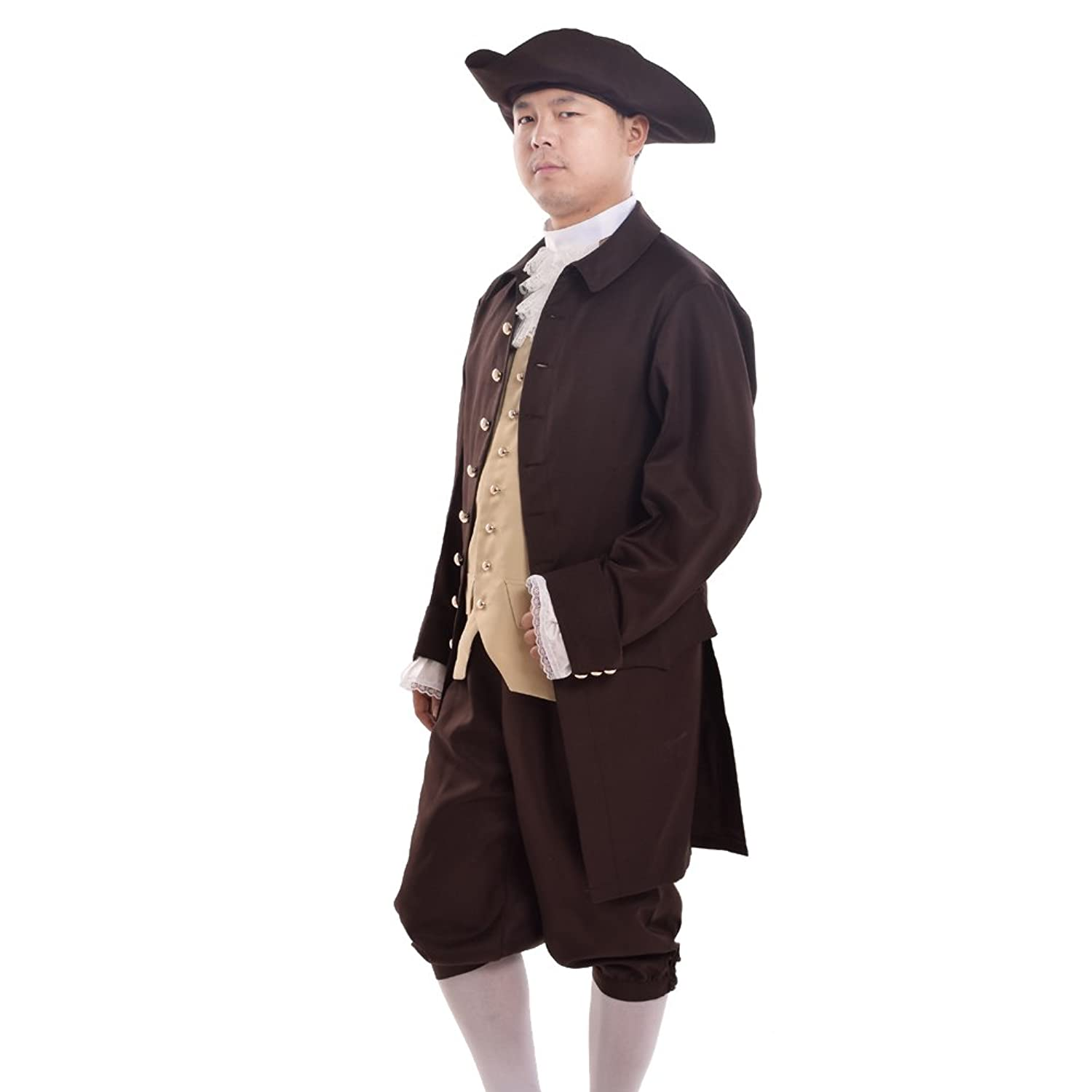 BLESSUME Men's Colonial Costume Set