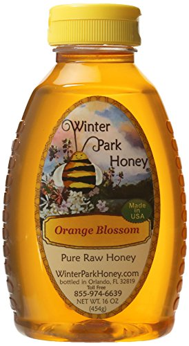 Raw Orange Blossom Honey 16oz (Pure Natural Honey)