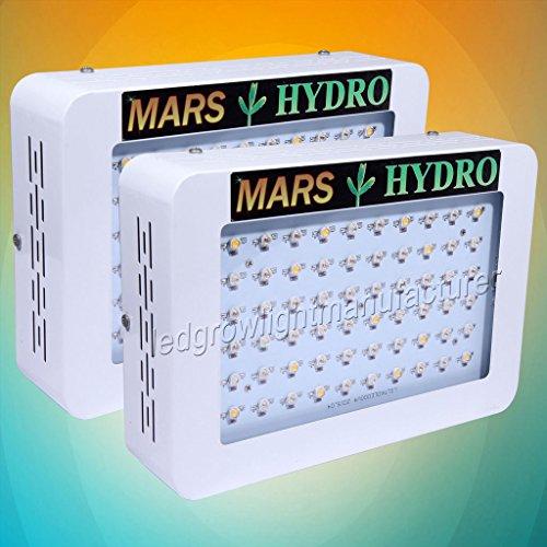 2PCS Mars Hydro 300W Led Grow Light Full Spectrum Hydroponic